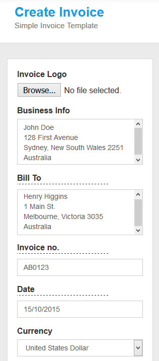 Create-invoice-from-mobile