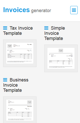 How to generate an invoice from your mobile phone online billing select an invoice template maxwellsz