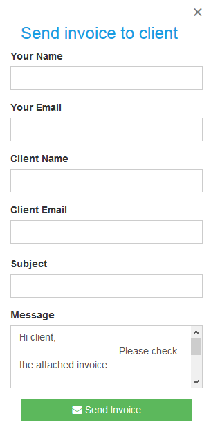 Send invoice to client
