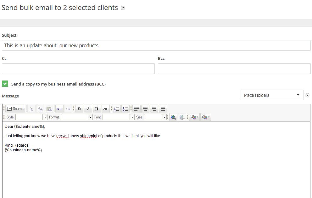 compose bulk email